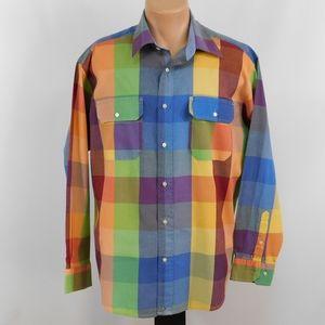 Tommy Hilfiger long sleeve button down shirt. L